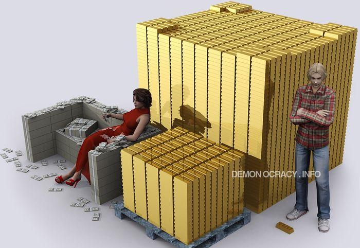 10 тонн золота и 100 тонн в сравнении с ростом человека