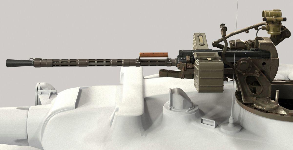 3D модель пулемета КПВТ на танке Т55