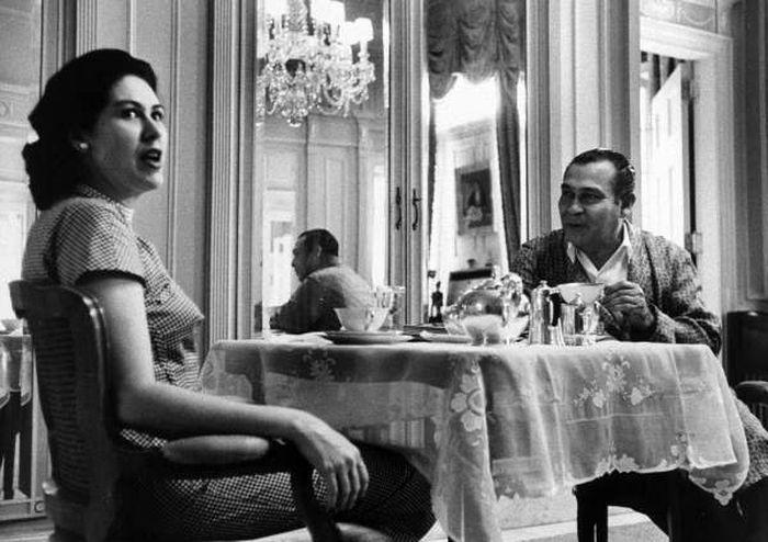 1958 год, Батиста завтракает в Президентском дворце с женой Мартой