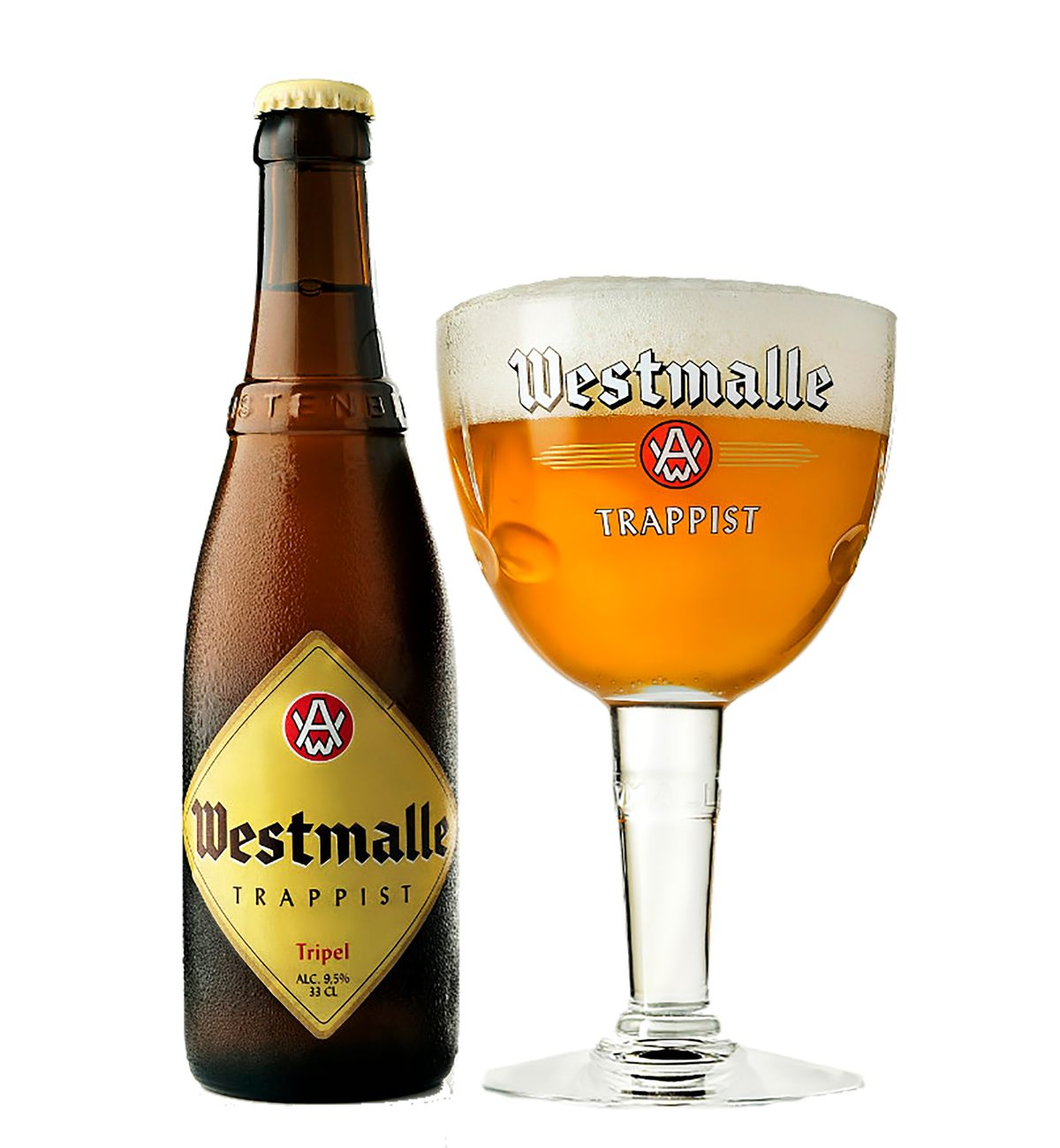 1 место в десятке лучшего пива Бельгии занимает Westmalle Tripel, 9.5%