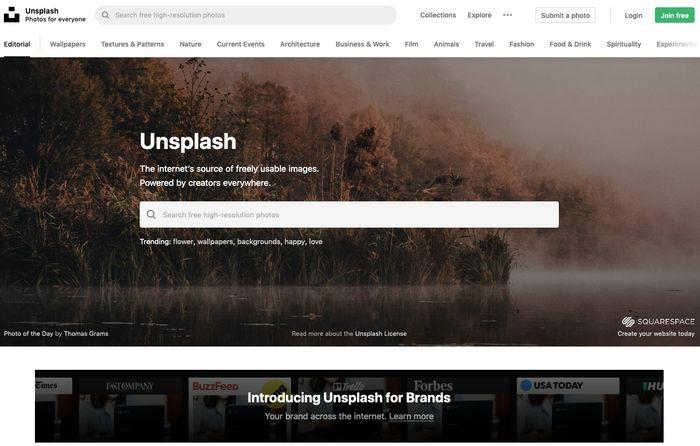 Unsplash.com - 1 млн бесплатных фото