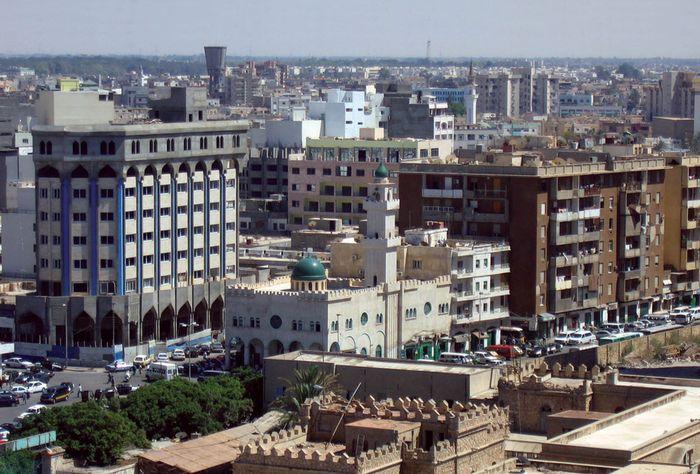 Довоенная панорама Триполи