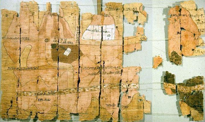 Древнеегипетская папирусная карта времён правления Рамзеса IV