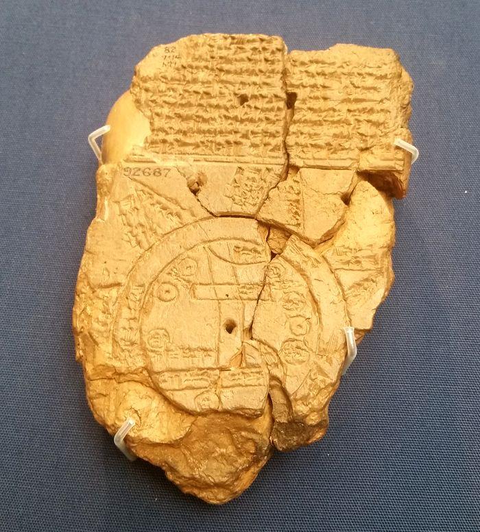 Древнейшая Вавилонская карта мира, конец VIII века до н. э. Глина