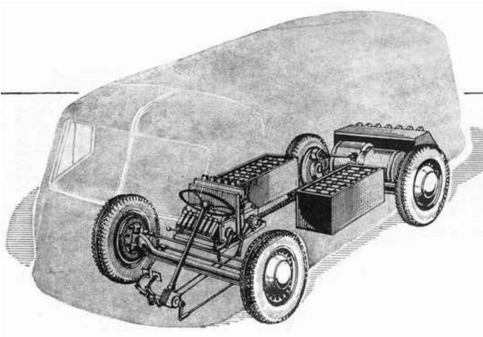 Компоновка электромобиля НАМИ-750