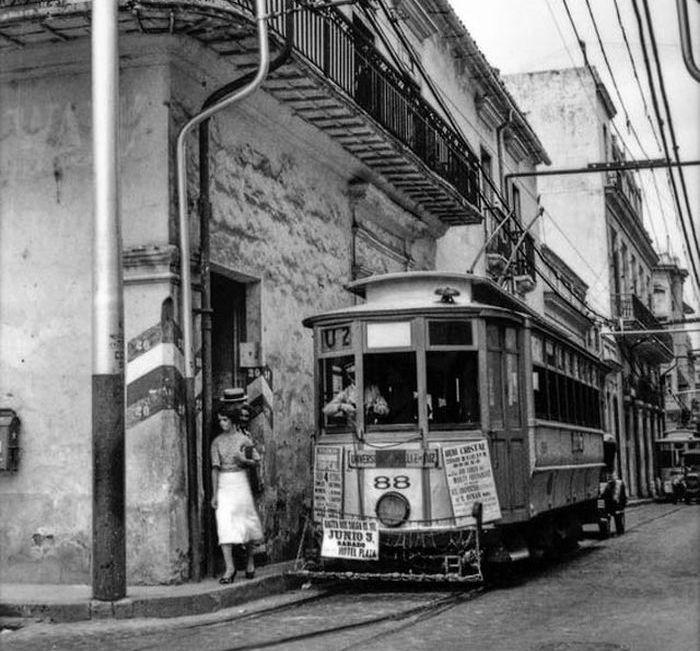 гаванский трамвай конец 40х