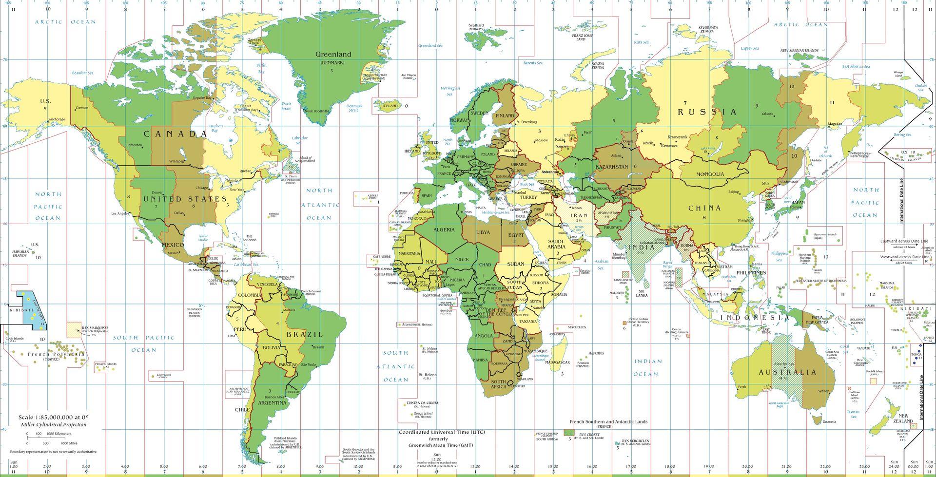 С какой последовательностью на Земле наступает новый год?