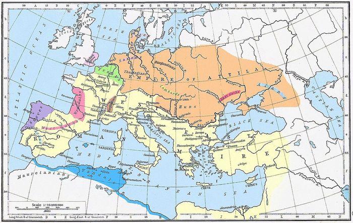 Империя Гуннов, 5 век
