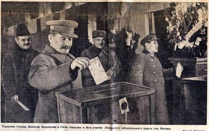 Иосиф Сталин на выборах 1937 года