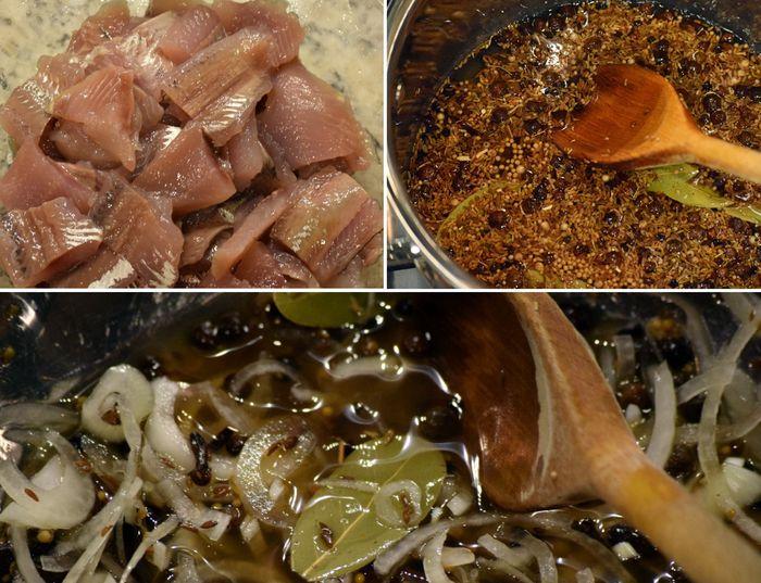 Быстрый рецепт засолки селедки за 2 часа