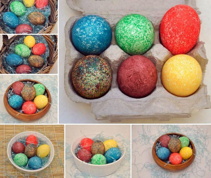 Как покрасить яйца на Пасху в крапинку
