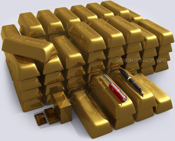 Как выглядит одна тонна золота?