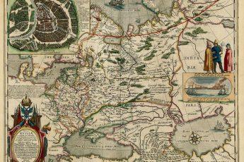 Карта России XVII века Фёдора Годунова