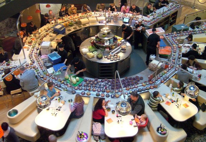 Кайтэн-дзуси - конвейерные суши-рестораны