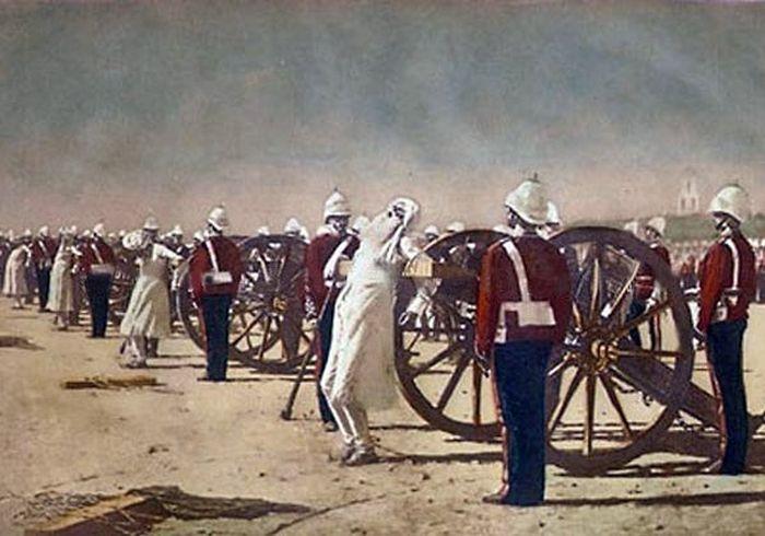 Подавление индийского восстания англичанами, картина В.Верещагина
