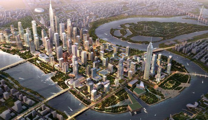 Проект финансового квартала Yujiapu в городе Тяньцзинь