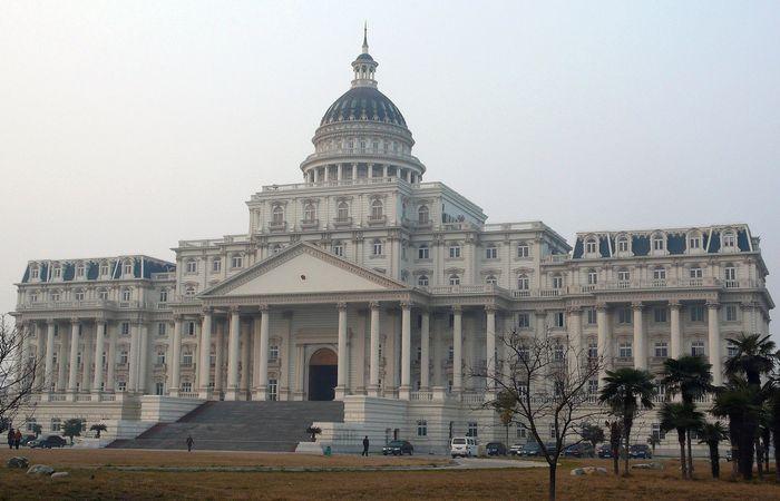 Копия здания конгресса США, клон капитолия в Фуяне