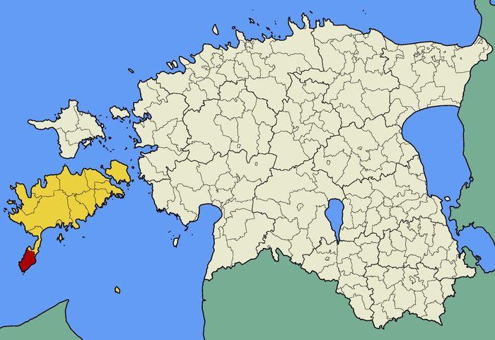 Королевство Торгу на карте Эстонии