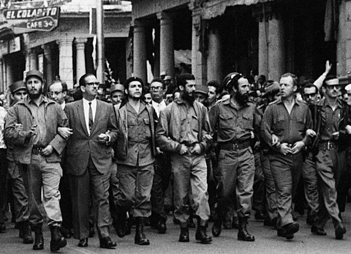 Главные кубинские революционеры в марте 1960 года