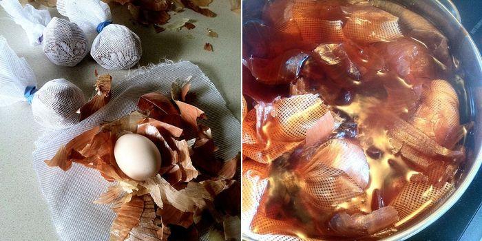 Как сделать пасхальные яйца мраморной расцветки