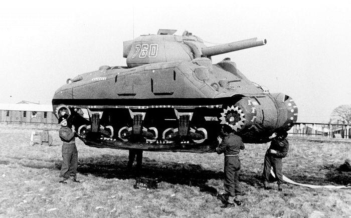 Надувной макет американского танка Шерман M4