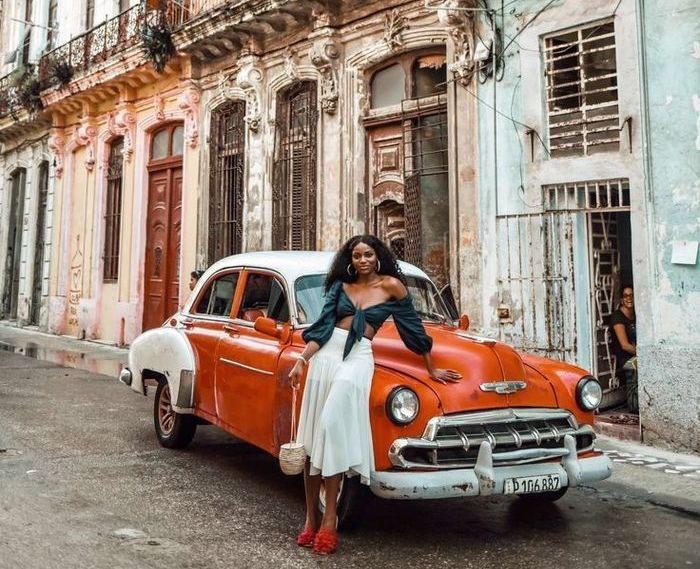 Обветшалые дома старой Гаваны на современной Кубе