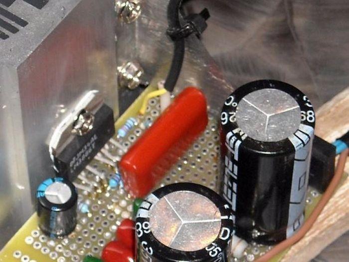 Радиатор для усилителя на микросхеме LM3886