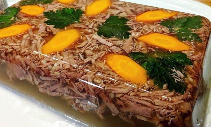 Рецепт холодца из говяжьих ножек и телятины