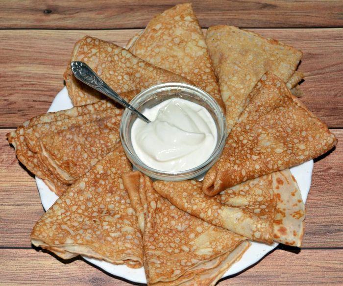 Рецепт тонких блинов на молоке и кефире