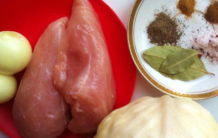 Рецепт тушеной капусты с курицей