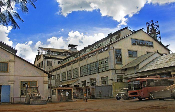 Сахарный завод на Кубе
