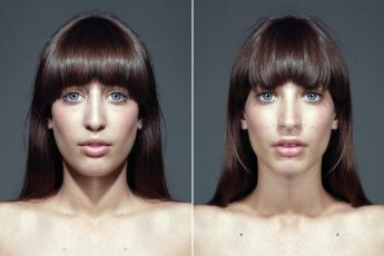 Как выглядят полностью симметричные лица?