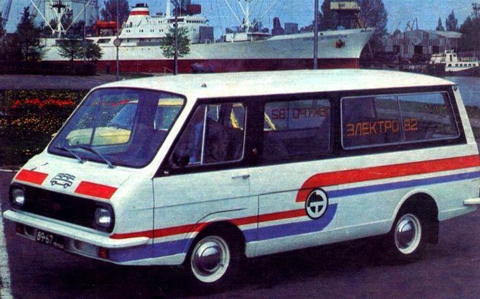 Советский электрический микроавтобус РАФ-2210