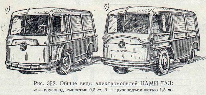 Советские электромобили НАМИ-750 и НАМИ-751