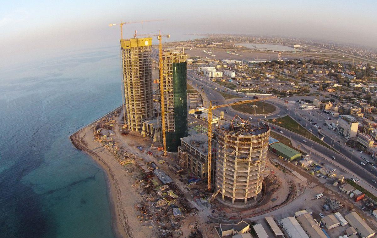 Строительство небоскребов Burj Al Baher в Триполи