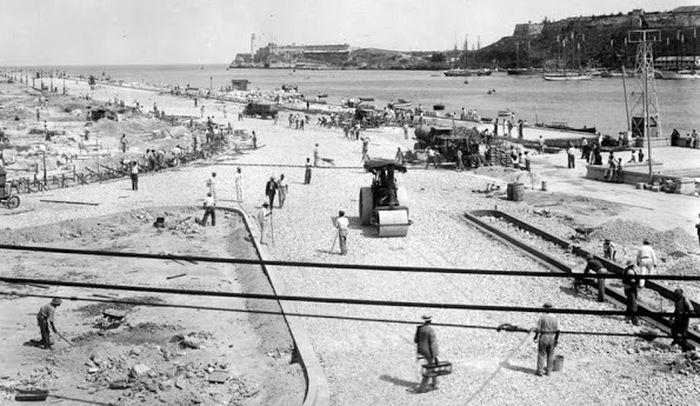 Строительство причалов в Гаване 1930е