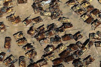 Самое большое танковое кладбище в Кувейте