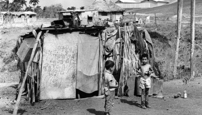 Трущобы кубинских бедняков, 1950е на Кубе