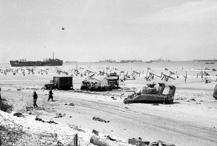 Утро 7 июня 1944 года после высадки союзников на плацдарм