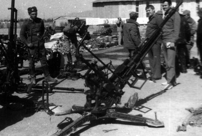 ЗГУ-1 - советская зенитная одиночная горно-вьючная пулемётная установка во время войны в Афгантистане